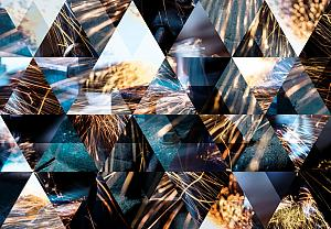 Abstract image of metal fabrication