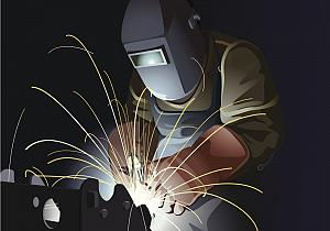 Illustration of a welder