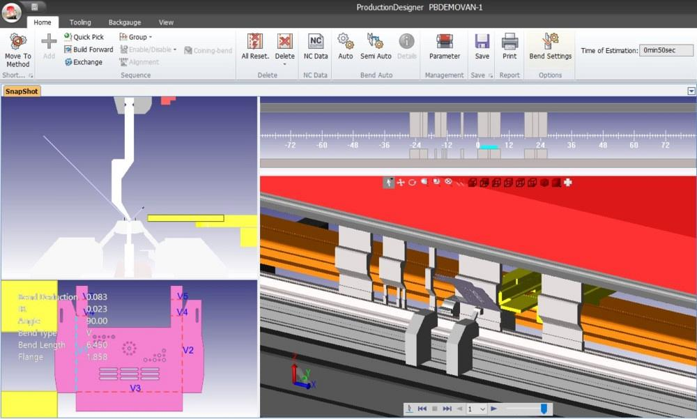 Bending software can assign tooling to jobs automatically.