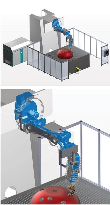Abrasive waterjet cutting goes robotic