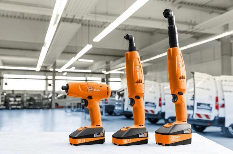 Atornilladores Accutec de torque Fein diseñados para ser ligeros y ergonómicos.