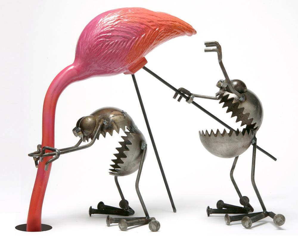 Sugarpost Metal Sculpture Army Helmet Turtle