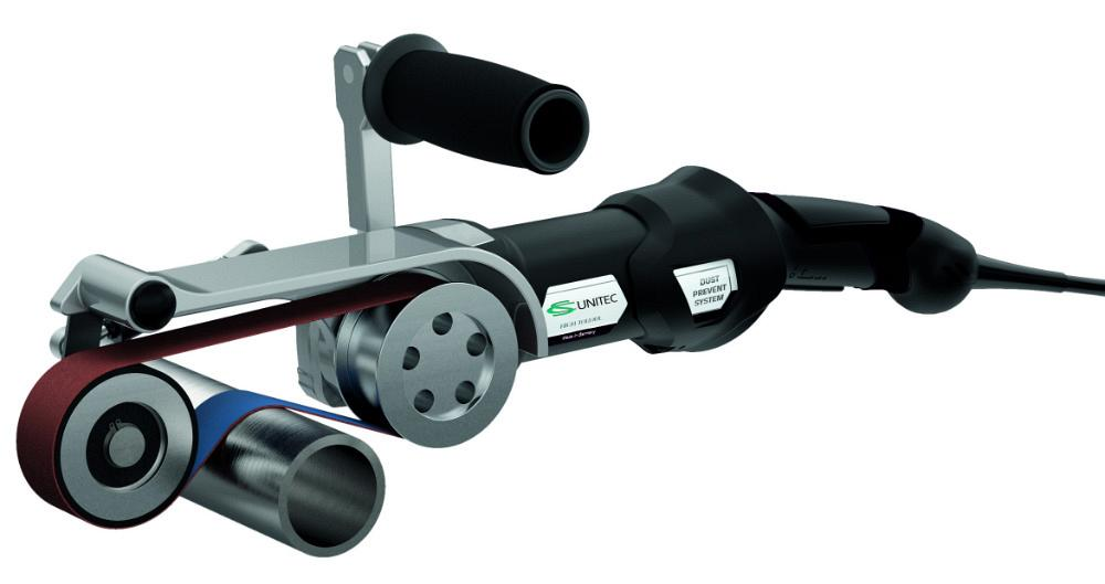 CS Unitec's Pipe-Max Mini pipe sander/polisher suitable for small