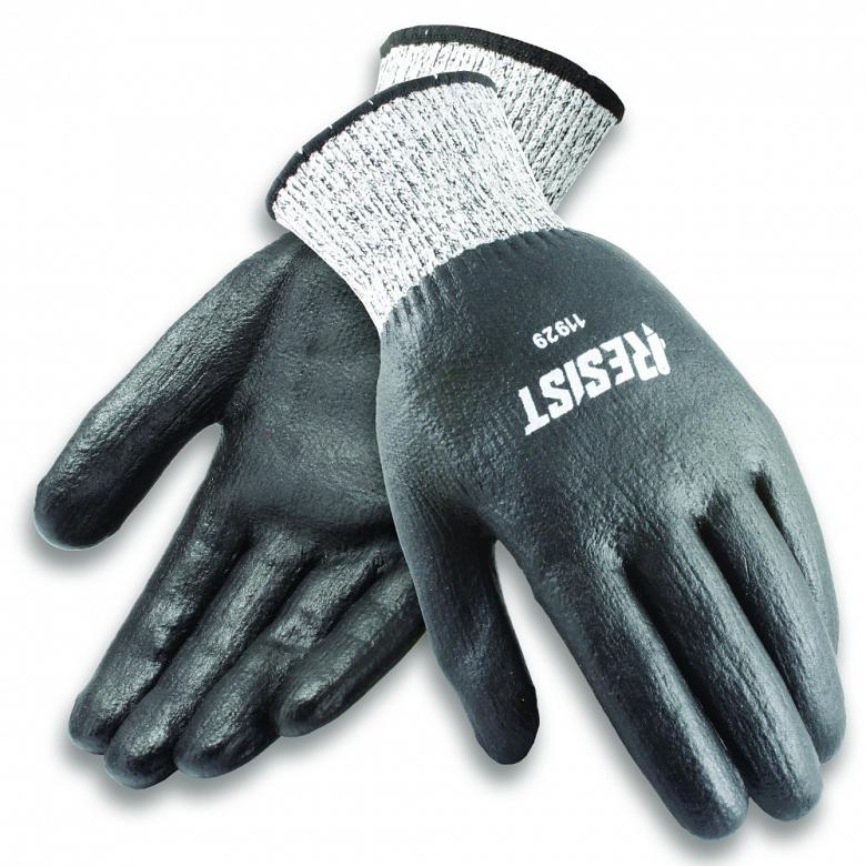 Cut-resistant gloves feature foamed nitrile coating for good wet