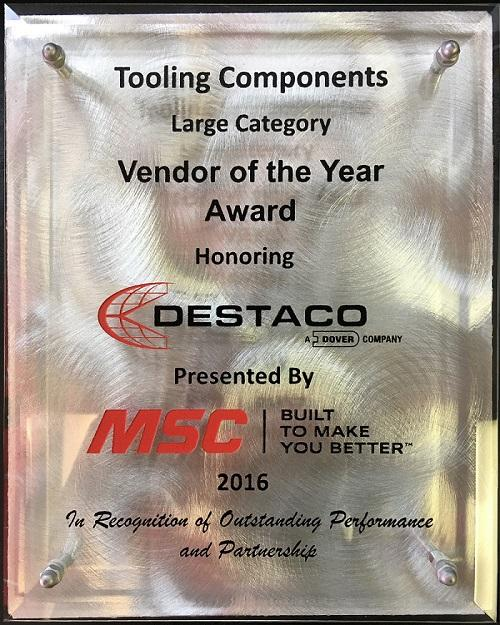 DESTACO named a Vendor of the Year by MSC Industrial Supply