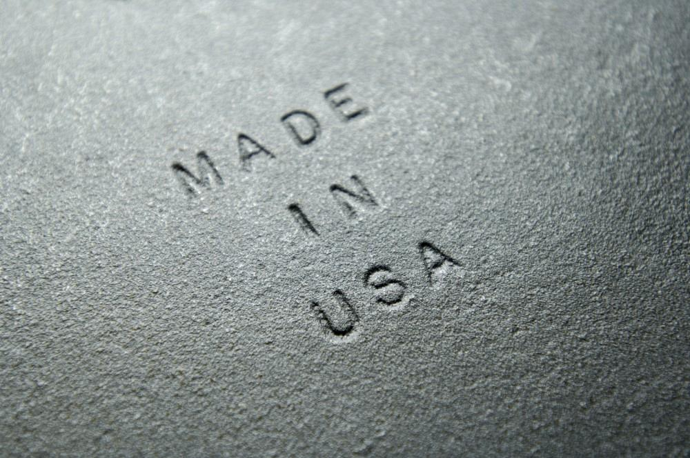 MADE IN USE stamped in to metal plate