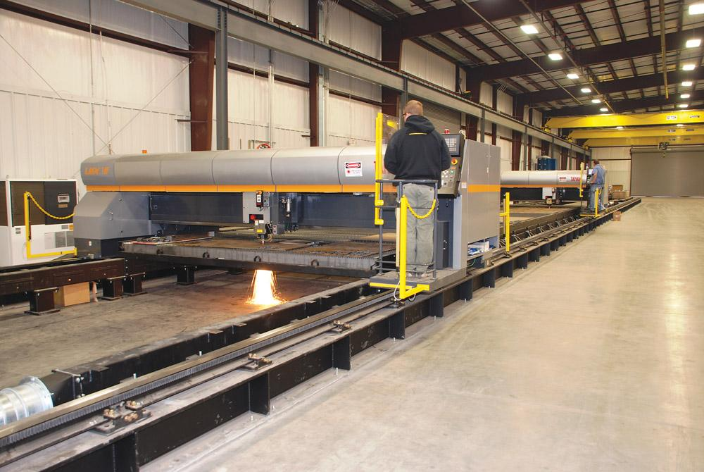 Factory fabrication railroad and other steel products