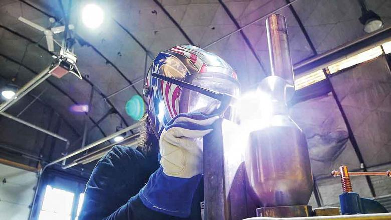 In welding, vision and feel can be honed
