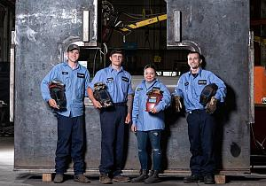 Young welders in Cleveland, Ohio