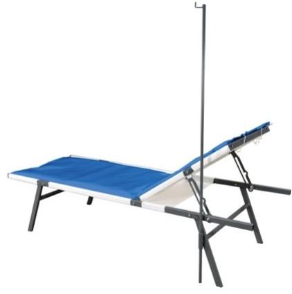 Metal fabricated field hospital cot