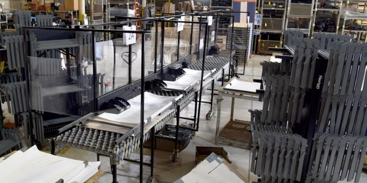 Lean manufacturing assembly of field hospital cots