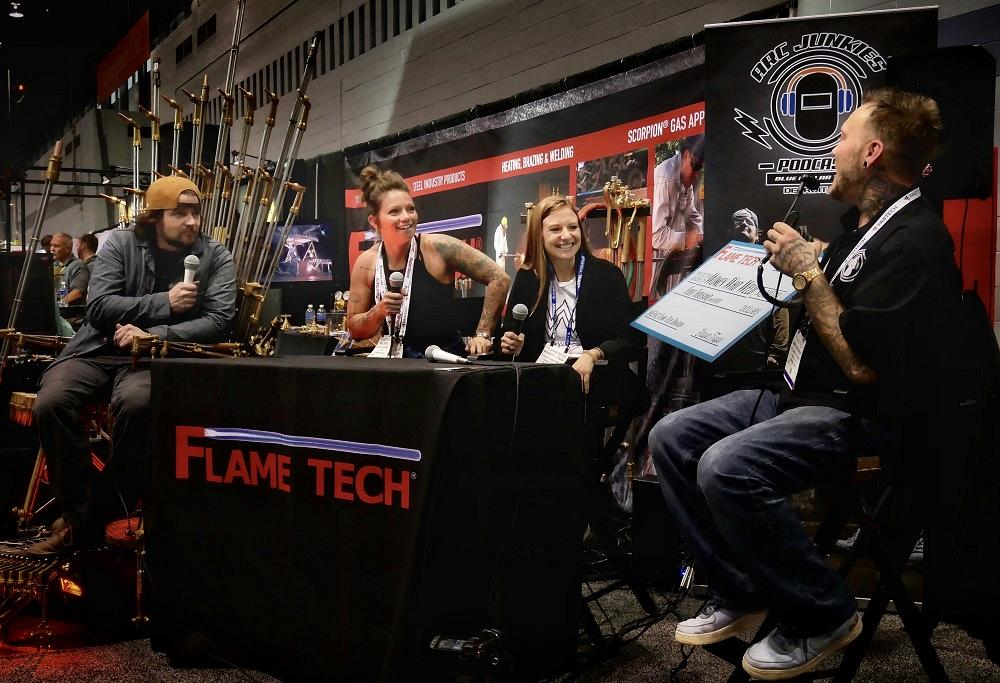 Arc Junkies podcasting from Flame Tech booth at FABTECH 2019