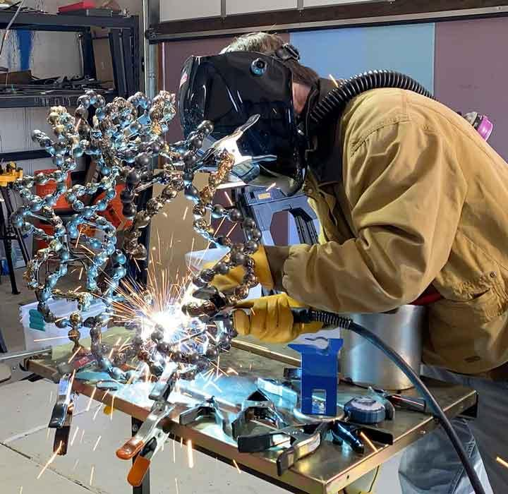 Dr. Bryan Welm's nucleosome sculpture