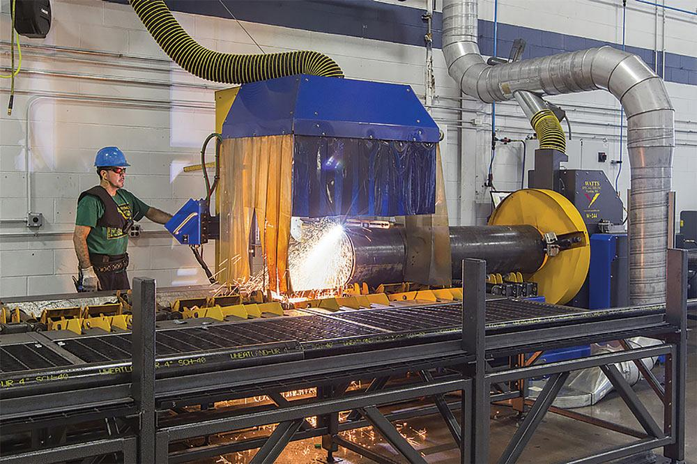 Plasma machine helps pipe fabricator expand services