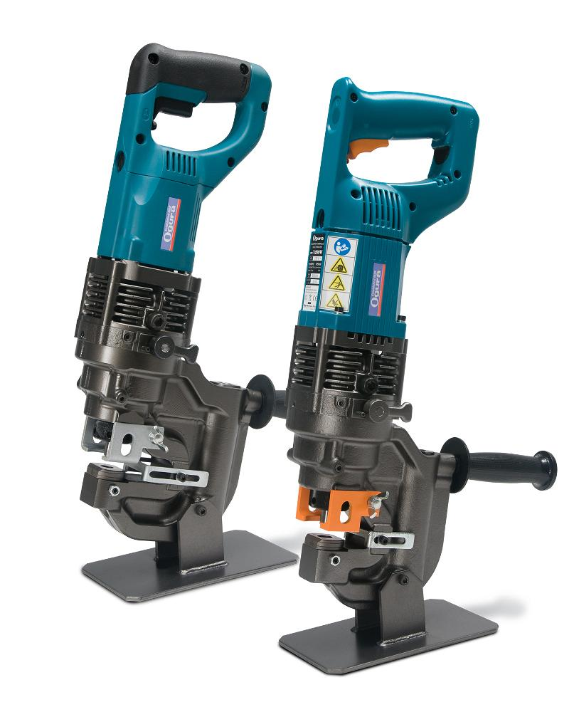 Power-reverse punch feature helps increase hole puncher productivity