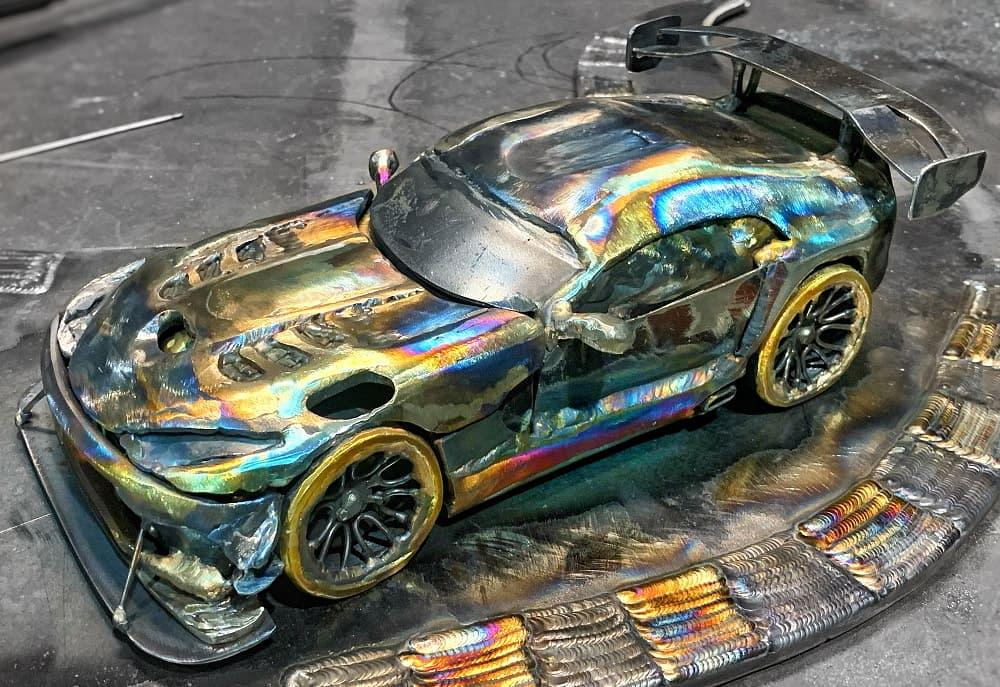 Rediscovering a love for fabricating metal art sculptures with a Dodge SRT Viper ACR.