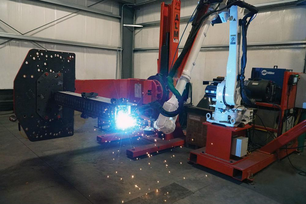 Robot Ready Hydraulic Positioner from ALM Positioners works