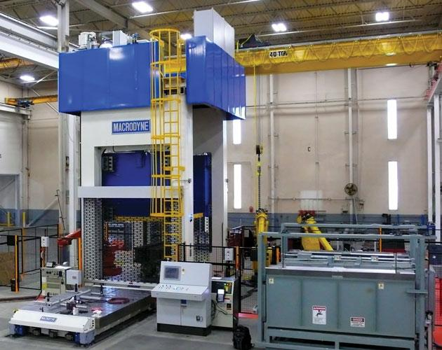 Selecting a hydraulic hot-stamping press