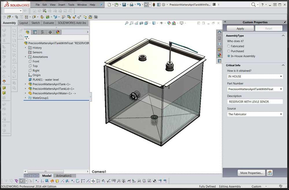 Shop technology and 3-D CAD: Configuration tables and parametric