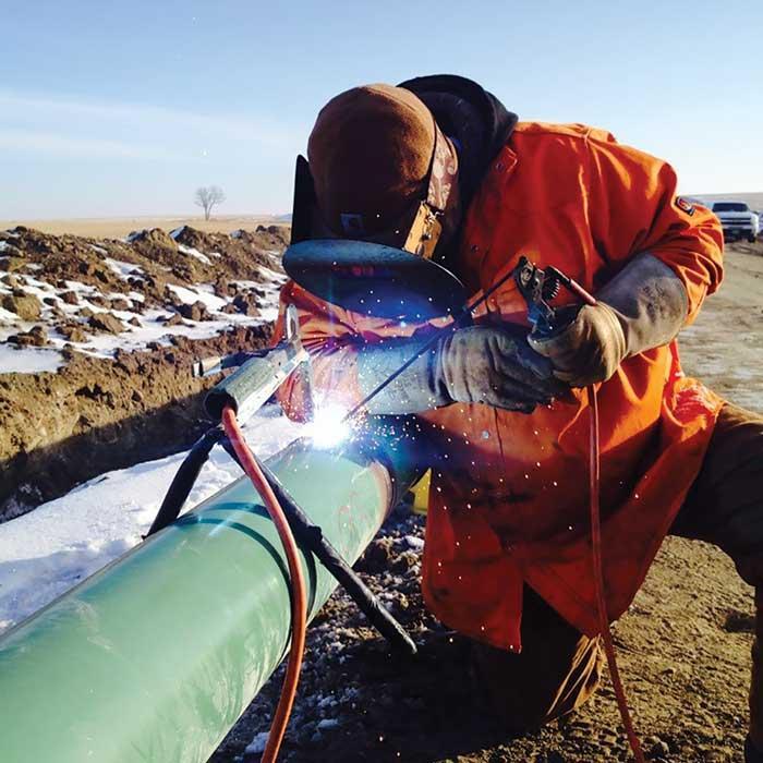 Texas pipeline welder