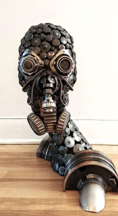 Welder Creates Art From Work Scrap