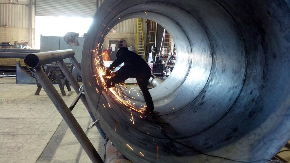 Welding Prep In Pressure Vessel Fabrication