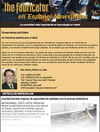 The Fabricator en Espa?ol Newsletter Cover